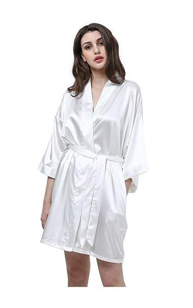 Vestido De Bata para Mujer Albornoz Noche Cálido Shea Kimono Manga Larga Basic con Cuello En V Cómodo Y Suave Pijama Camisón 8 Colores Ropa: Amazon.es: Ropa ...