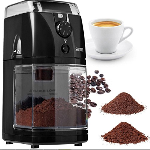 Secura Automatic Electric Burr Coffee Grinder Mill Black, New!!!