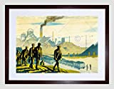 PAINTING RAILWAY LMS INDUSTRIAL MINE PIT NEWCASTLE UK FRAMED PRINT B12X7485