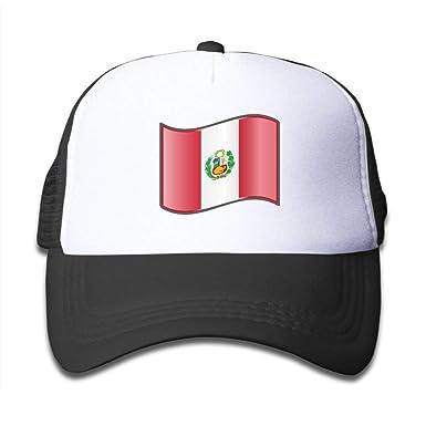 surce Gorra de Camionero para ni?os y ni?as Bandera de Perú 1 ...