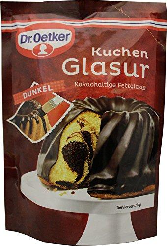 Dr Oetker Dunkel Kuchen Glasur 125g/4.4oz Dark Chocolate Icing -