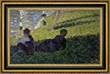 """This 21.25"""" x 31.25"""" premium giclee canvas art print of Study for A Sunday on La Grande Jatte I by Georges Seuratis meticulously created on artist grade canvas utilizing ultra-precision print technology and fade-resistant archival inks.Every detail..."""