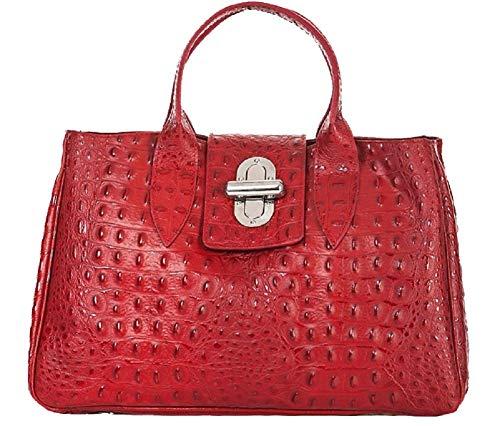 Piel De Bolso Para Rojo Mujer Asas Carele Bottega faTvII