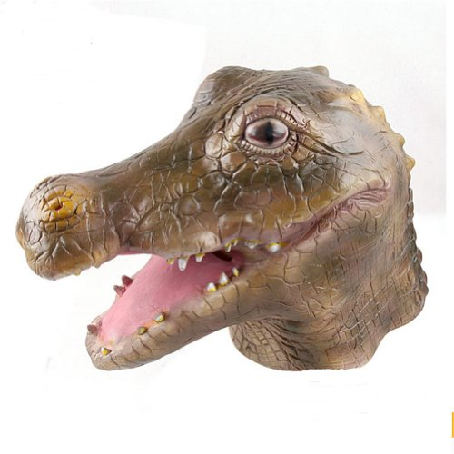 Gmasking Deluxe Latex Crocodile Mask Costume