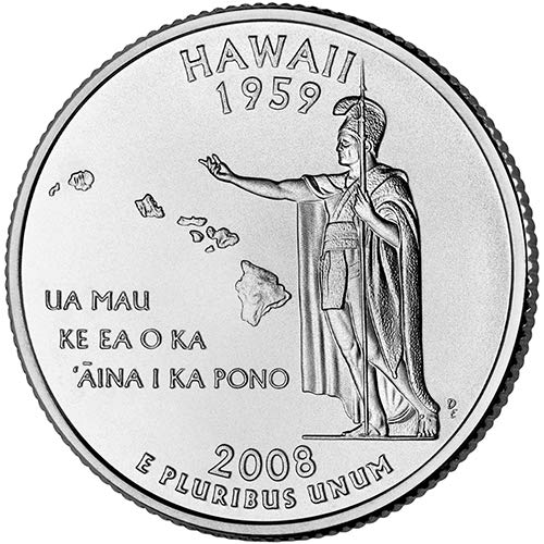 2008 S Silver Proof Hawaii State Quarter Choice Uncirculated US Mint