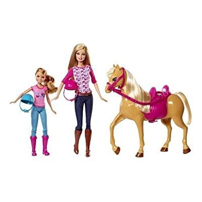 Barbie Pinktastic Sisters Riding Lessons: Toys & Games