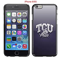 iPhone 6 6S Case,Tcu Horned Frogs Texas Christian 1 Drop Protection Never Fade Anti Slip Scratchproof Black Hard Plastic Case 4.7 inch
