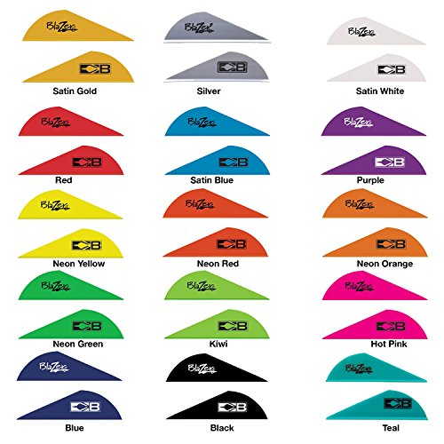 Bohning Blazer Solid Color Vanes w/Logo Mix/Match from 15 colors - (100 Pack) Blazer Vanes