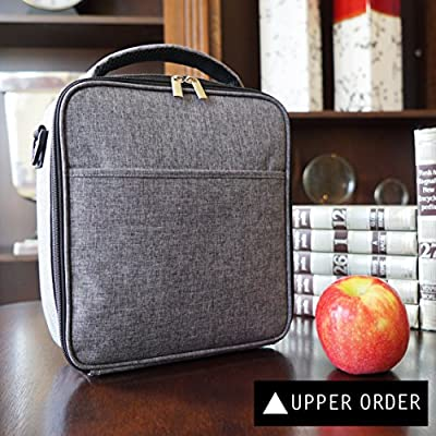 UPPER ORDER Durable Insulated Lunch Box Tote Reusable Cooler Bag 25% Larger Greater Storage