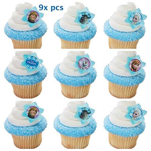 Frozen-Cake-Toppers-CakePicke-Disney-Frozen-Adventure-Friends-Cupcake-Rings-9x-pcs