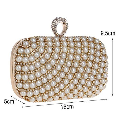 Pochette perle Noir 5x10x16cm cristal Forfait pour Sac rouge de 2x4x6inch d'embrayage femme dîner soirée en arq64a
