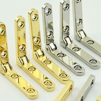 Silver Wooden Box Hardware Accessories Hinge No Word Die-Cast Hinges Zinc Alloy Seven-Word Hinge Color: Silver