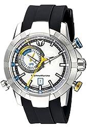 Technomarine Men's TM-614003 UF6 Analog Display Swiss Quartz Black Watch