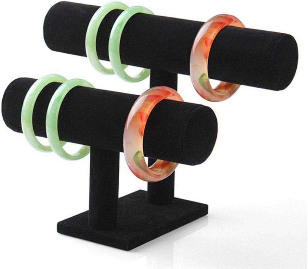 A ICHQ Schmuck-Display samt T-Bar Schmuckst/änder Armband Halskette Stand Organizer Holder Display