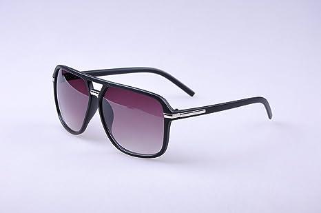 ZGP HD - Gafas de Sol cuadradas con Montura Grande, Estilo ...
