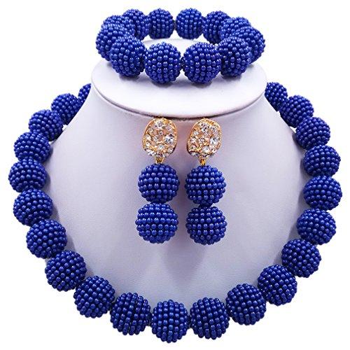 Royal Blue Necklace Set - 6