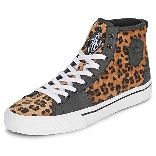 Jernhånd Menns Leopard Broadway Hi Top Sneakers - Leopard Oss 8 Eu 41