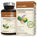 NatureWise Ashwagandha for Stress Relief | KSM 66 Ashwagandha Organic Extract + GABA, L-Theanine, Rhodiola for Everyday Stress & Anxiety Relief (⬇ Watch Product Video in Images) 60 Veggie Capsules For Sale