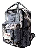 Backpacking Diaper Bag Backpack Tropical Print for Girls - Feathers