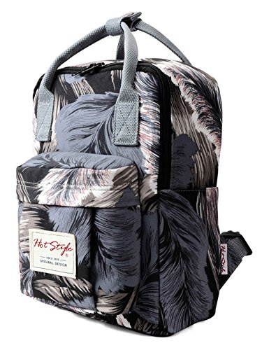 Backpacking Diaper Bag Backpack Tropical Print for Girls - Feathers by hotstyle