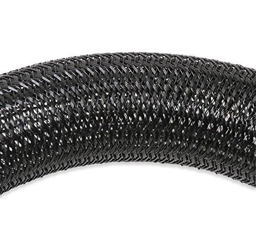 Holley EFI 573-115 Bulk Split Wire Loom Tubing 1 1/2 in. Braided F6 Tubing 50 ft. Black Bulk Split Wire Loom Tubing