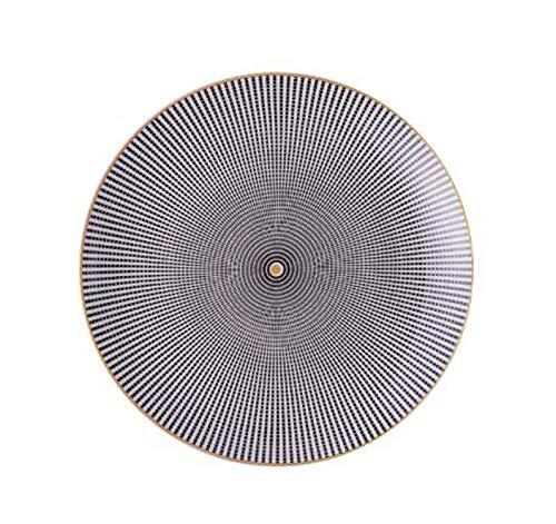 (Geometry Tableware Ceramic Dinner Plate Dish Porcelain Dessert Plate Dinnerware,F,8 Inches)