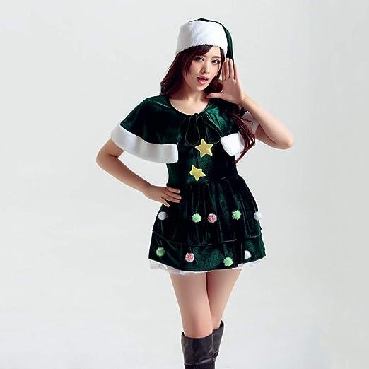 Shisky Disfraz de Navidad Adulto, Santa Claus Traje de Vestido de ...