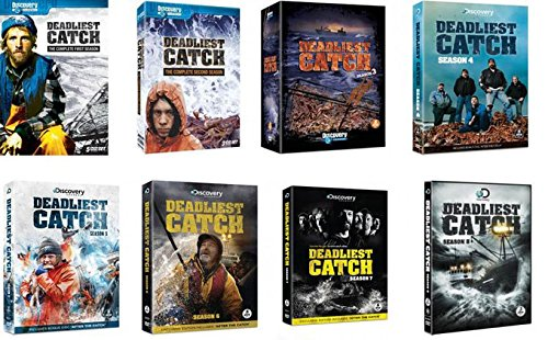 Deadliest Catch All Seasons 1 2 3 4 5 6 7 and 8 (1-8) with Bonus Phil Harris Tribute Tshirt (Men's XXL)