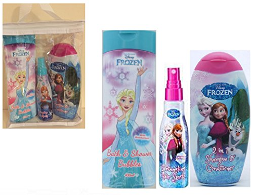 Disney Eiskönigin GESCHENK SET - 5.1cm 1 Shampoo Und Spülung , Bubble Bath, Haarbürste & Haar Bänder