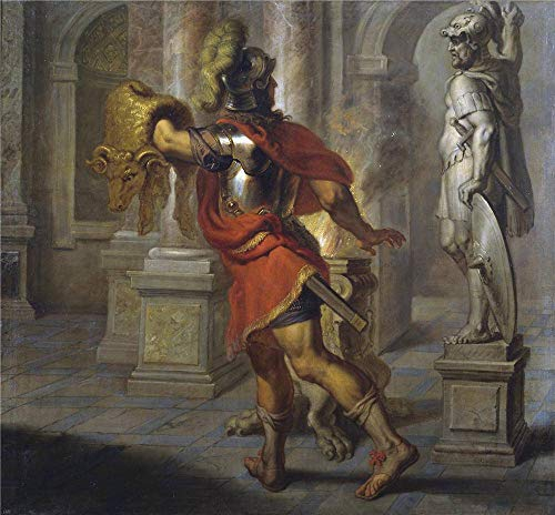 (Oil Painting 'Quellinus Jan Erasmus Jason Con El Vellocino De Oro Ca. 1630 ' Printing On Polyster Canvas , 18 X 19 Inch / 46 X 49 Cm ,the Best Hallway Decoration And Home Artwork And Gifts Is This Imitations Art DecorativeCanvas Prints)