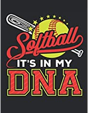 Softball It's In My DNA: Softball Student Planner, 2020-2021 Academic School Year Calendar Organizer, Large Weekly Agenda (August - July)