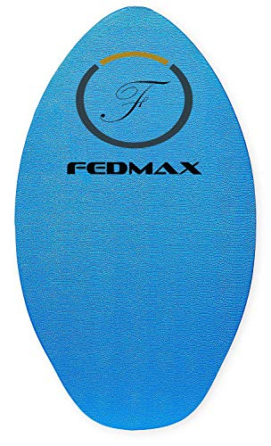 Fedmax Skimboard with IXPE Foam Traction, No Wax Needed | Up to 120lbs | Choose Size | Wood Skim Board for Kids/Adults. Design 2, 30 in.