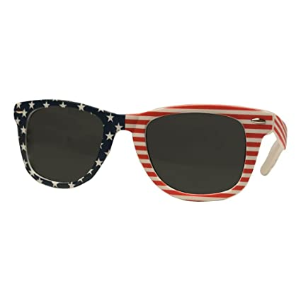 ea0fd881ddb Image Unavailable. Image not available for. Color  My Sunnies USA American  Flag Stars   Stripes Wayfarer Sunglasses