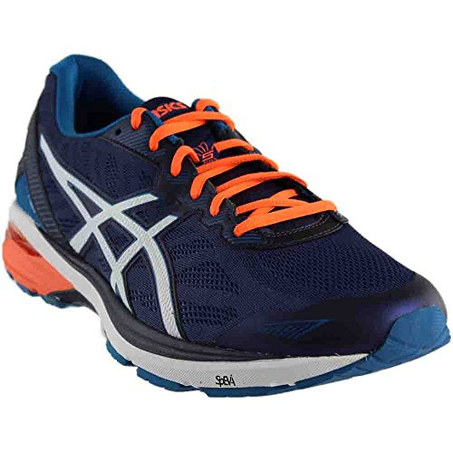 ASICS Men's Gt-1000 5 Running Shoe, Indigo Blue/Snow/Hot Orange, 13 M US