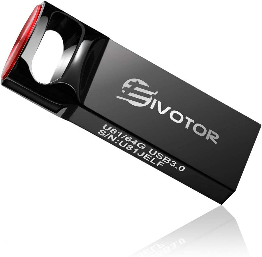 USB Flash Drive 128GB, EIVOTOR Memory Stick USB3.0 Flash Drive Mini Memory Stick Waterproof USB Stick Pendrive Data Traveler Gift for School Office Car PC Kids