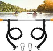 2Pcs Adjustable Kayak Paddle Leash, Daoeny Kayak Paddle Lanyard, Paddle Holder Strap, Stretchable Coiled Lanya