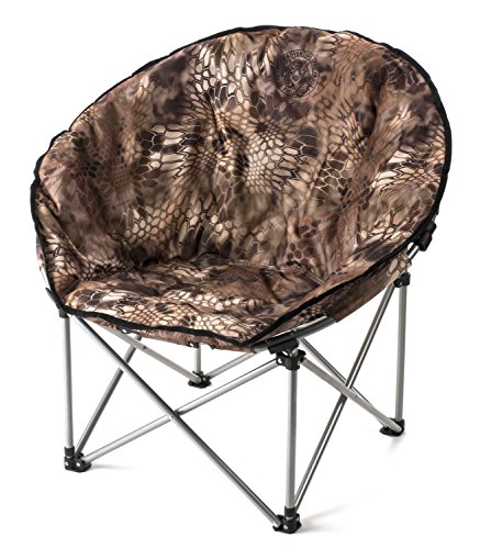 Lucky Bums Moon Camp Adult Indoor Outdoor Comfort Lightweight Durable Chair with Carrying Case, Kryptek Highlander, Large (Camo Papasan Chair)
