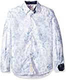 Robert Graham Men's Rider Classic Fit Cotton Sport Shirt, White, XLarge
