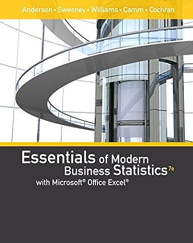 Essentials of Modern Business Statistics with Microsoft Excel (Book Only) (Modern Business Statistics)