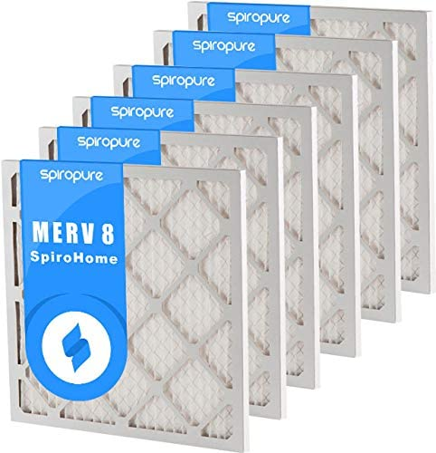 SpiroPure 13x17x1 MERV 8 Pleated Filter Air Filters 6 Pack Made in USA