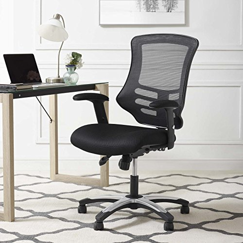 Modway Calibrate Mesh Adjustable Swivel Ergonomic Office Chair in Black