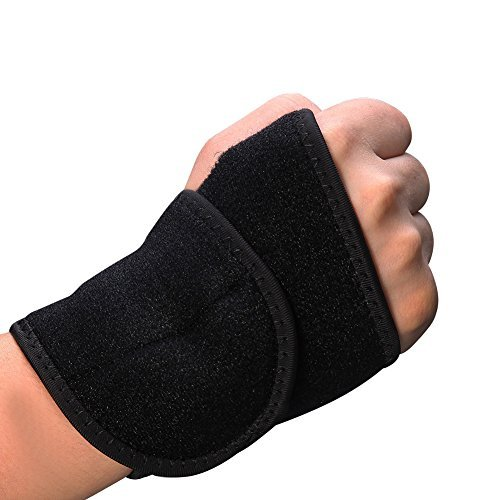 JuanZ Adjustable Wrist Support, One Size Adjustable (Black) by JuanZ