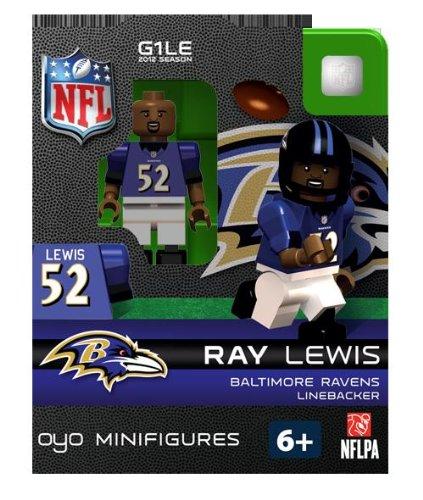 Ray Lewis NFL Oyo Mini Figure Lego compatibles Ravens de Baltimore