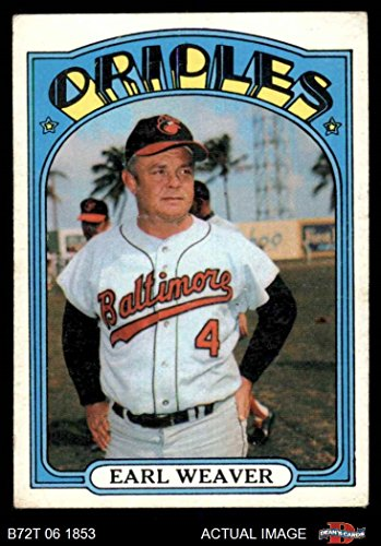 1972 Topps # 323 Earl Weaver Baltimore Orioles (Baseball Card) Dean's Cards 2 - GOOD Orioles