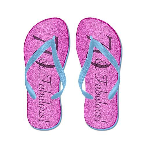 CafePress 70Th Birthday Fabulous - Flip Flops, Funny Thong Sandals, Beach Sandals Caribbean Blue
