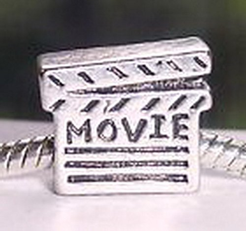 Beads Hut - Movie Clap Board Filmmaker Film Hollywood Charm Bead for European Style Bracelet (Hollywood Couple Costume Ideas)