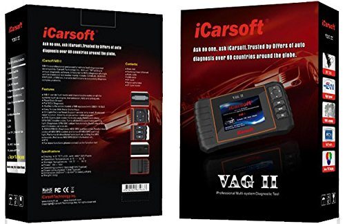 iCarsoft VAG II for Audi / VW / Seat / Skoda NEW VERSION professional diagnostic tool scanner - PLUS FREE extendable SELFIE STICK black ($10 Value) by iCarsoft (Image #4)