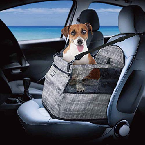 All for Paws Travel Dog Air Cushion Safe Car Seat, Waterproof Car Booster Seat for Pets, 30 LB - Up Seats 30 Car Booster And Lbs