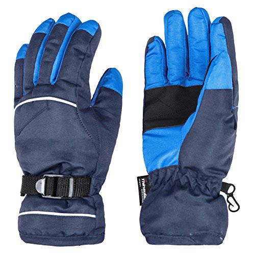 Wantdo Women and Men Waterproof Insulated Ski Gloves Warm Winter Work Gloves