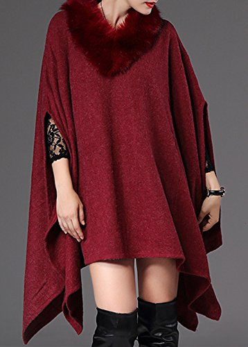 PLAER - Poncho - capa - para mujer red date